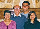 photo of the Melwani family