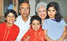 photo arun j. mehta and his family