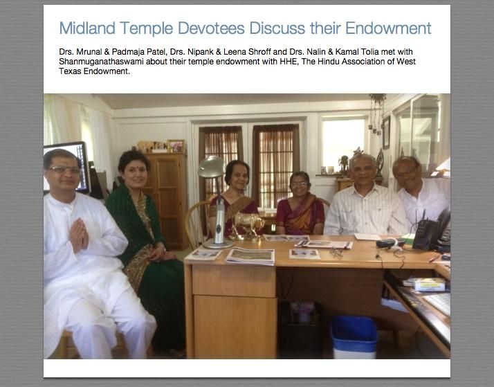 Midland Temple Devotees
