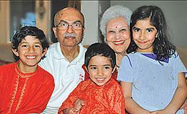 Arun J. Mehta and family
