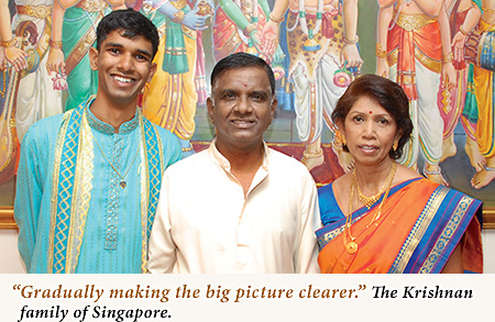 the beautiful Krishnan family of Singapore