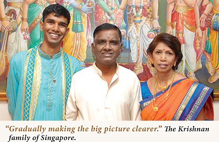 the beautiful Krishnan family of Singapore
