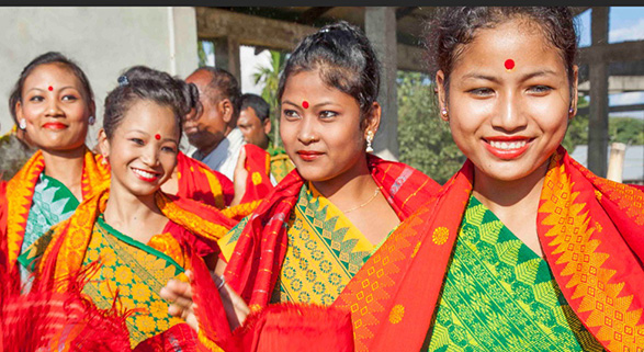 Colorful ladies of Assam