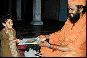 Swami with child
